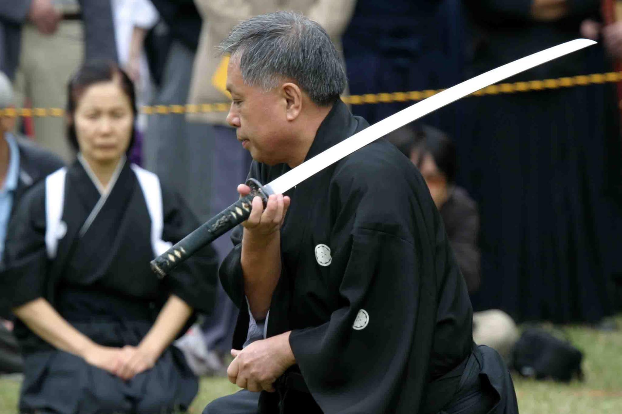 sugino yukihiro Katori Shinto Ryu Seminar with Sugino Sensei 9'dan in Leer